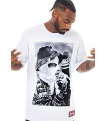 camiseta prison bucket rap branca - kanui