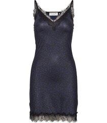 strap dress kort klänning blå rosemunde