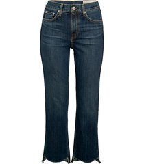 high-rise stovepipe jeans