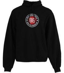 black round logo hoodie