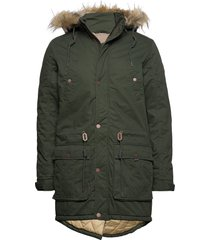 6199614, jacket - dusty parka jacka grön solid
