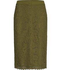 skirt knälång kjol grön rosemunde