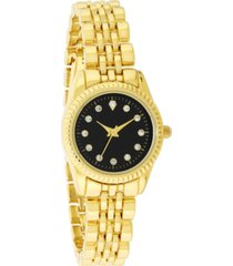 charter club women's gold-tone bracelet watch 26mm, created for macy's