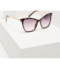lane bryant women's printed cateye sunglasses no potent purple