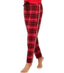 jenni lurex & plaid pajamas pants, created for macy's