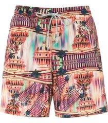 lygia & nanny gil elastic swim shorts - pink