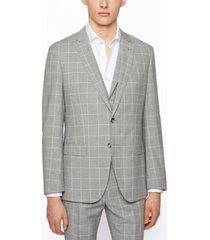 boss men's slim-fit three-piece suit