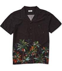 billabong men's vacay stretch palm-print shirt