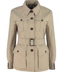 chloé button-front cotton jacket