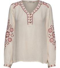 lavilnacr blouse blouse lange mouwen crème cream
