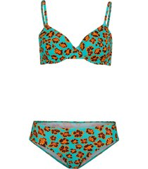 bikini con ferretto (set 2 pezzi) (blu) - bpc bonprix collection