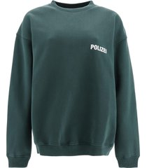 vetements polizei print sweatshirt