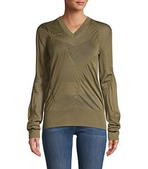 ruched cashmere-blend sweater