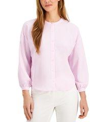 alfani petite blouson-sleeve blouse, created for macy's