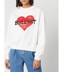 philosophy di lorenzo serafini women's bullshit sweatshirt - white/red - m