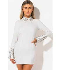 akira winnie stitched embellished mini dress
