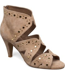 shoe shoes boots ankle boots ankle boot - heel beige sofie schnoor