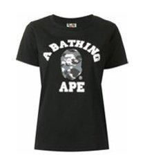 a bathing ape® camiseta city camo college - preto