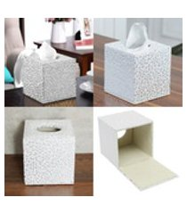 sala de estar do carro em casa squared pu leather tissue box cover guardanapo de papel suporte de toalha