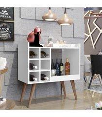 aparador bar retrô baden - branco - rpm móveis