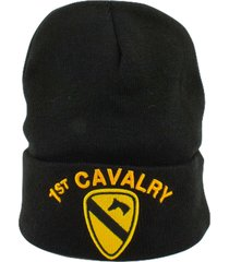 military licensed winter knit beanie skull caps (1st cavalry)