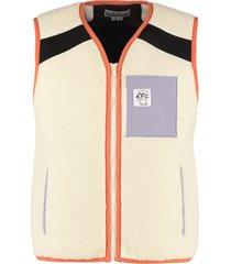 p.c.a.c. x brain dead short eco-sheepskin vest