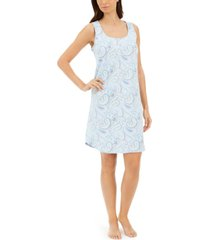 charter club cotton sleeveless sleep shirt nightgown, created for macy's