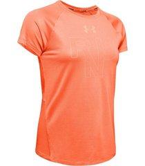 camiseta de mujer para correr under armour ua qualifier run short sleeve