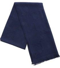 gucci gucci gg pattern wool scarf