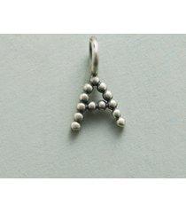bead alphabet charm