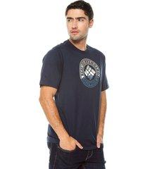 camiseta azul navy columbia