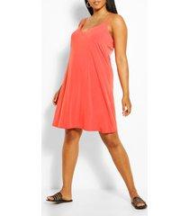 plus cami mini dress, orange