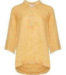tiffany shirt linen, senape, 17661