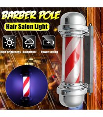 señal 57cm led barber shop polo giratoria del salón de pelo de la luz roja de la raya blanca diseño - normativa europea 220v