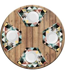 jogo americano love decor para mesa redonda wevans exotic kit com 4 pçs