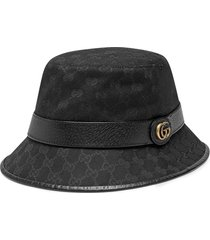 gucci gg canvas bucket hat - black