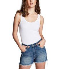 cotton on mid rise sylvie stretch denim shorts