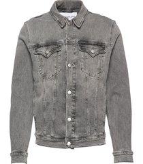 foundation slim deni jeansjacka denimjacka grå calvin klein jeans