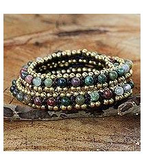 agate wrap bracelet, 'happiness and joy' (thailand)