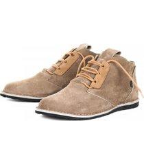 zapato casual cuero dingo suede taupe bestias