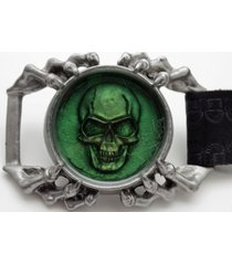 men silver big 3d metal belt buckle skull skeleton eagle claw heavy gothic biker