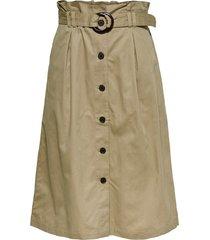middellange rok high waist riem