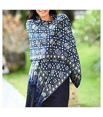 silk batik shawl, 'royal art' (indonesia)