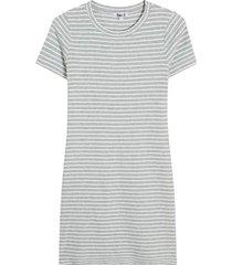 vestido rayas color gris, talla 10