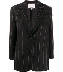 3.1 phillip lim striped straight-fit blazer - blue
