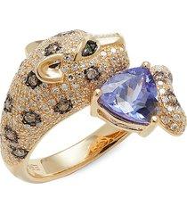 effy women's 14k white gold, tanzanite & diamond jaguar ring - size 7