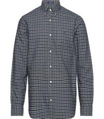 o1. tp b oxford fall check reg bd overhemd casual blauw gant