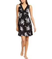 charter club floral-print lace-trim sleeveless nightgown, created for macy's