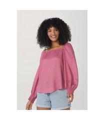 blusa feminina ampla em tecido de algodão