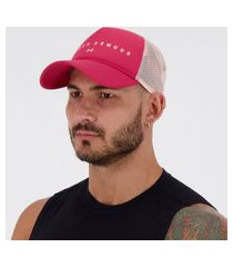 boné under armour mesh trucker rosa